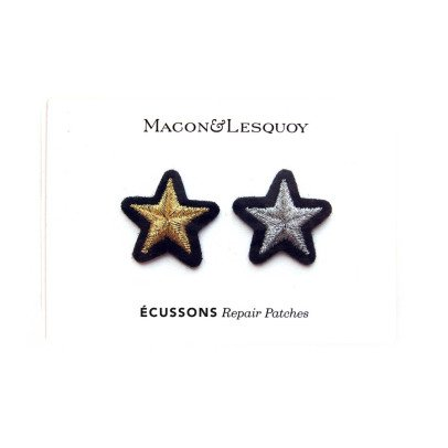 Macon & Lesquoy Assortment of 2 Star Badges Gold-listing