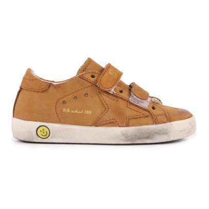 Golden Goose Old School Velcro Leather Trainers-listing