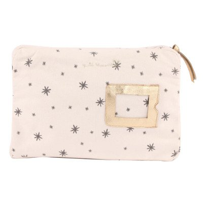 April Showers Trousse Zip Etoiles Ecru-listing