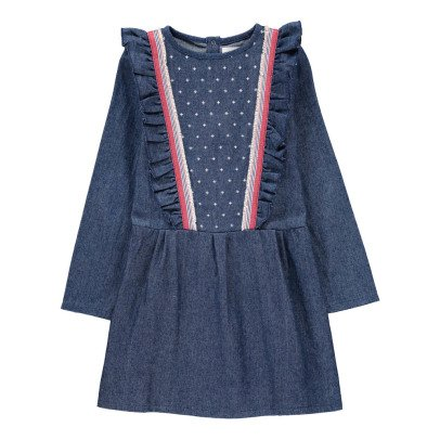 Blune Kids Wanted Frilly Dress Denim-listing
