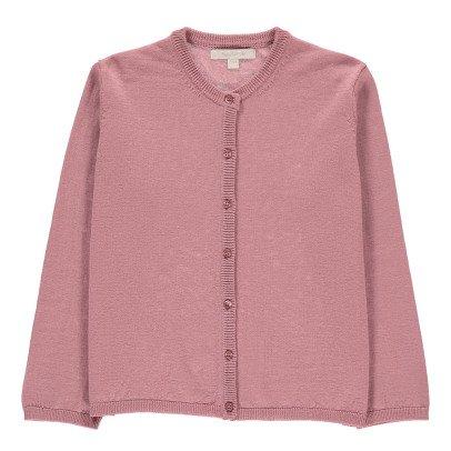 Poppy Rose Andrea Merino Wool Cardigan Powder pink-listing