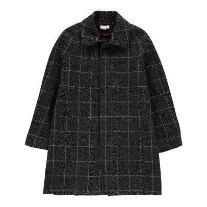 Soeur Checked Tweed Snoopy Coat-listing
