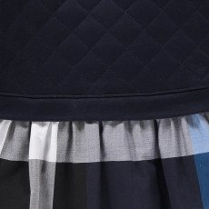 Burberry Quilted Tartan Orlia Combo Dress-listing