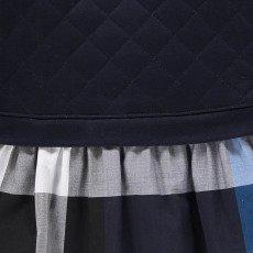 Burberry Robe Bi-matières Matelassée Tartan Orlia-listing