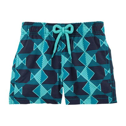 Vilebrequin Short de Bain Graphic Fishes-listing