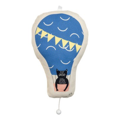 MIMI'lou Cat Hot Air Balloon Music Box-listing
