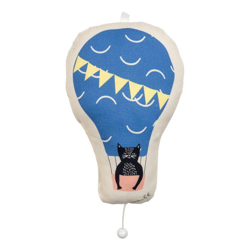 Cat Hot Air Balloon Music Box-product