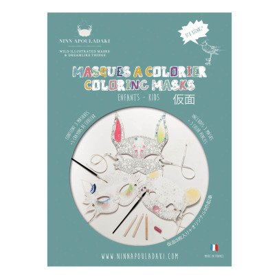 Ninn Apouladaki Colour In Party Masks - Set of 3 -listing