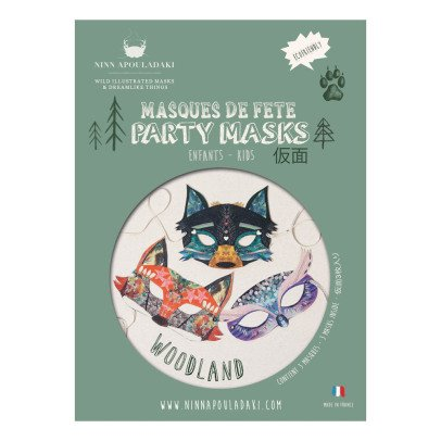 Ninn Apouladaki Forest Party Masks - Set of 3-listing
