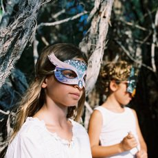 Ninn Apouladaki Partymaske Wald- 3 Stück -listing