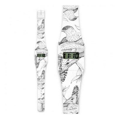 I like paper Reloj de papel Pájaros Gris-listing