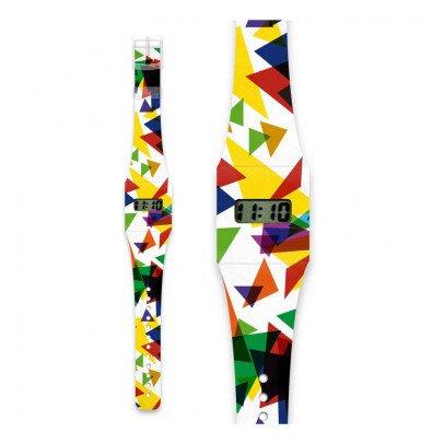 I like paper Montre en papier Triangle Multicolore-listing