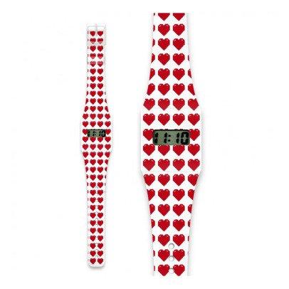 I like paper Reloj de papel Corazón Rojo-listing