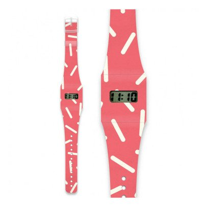 I like paper Montre en papier Rayure Pink-listing