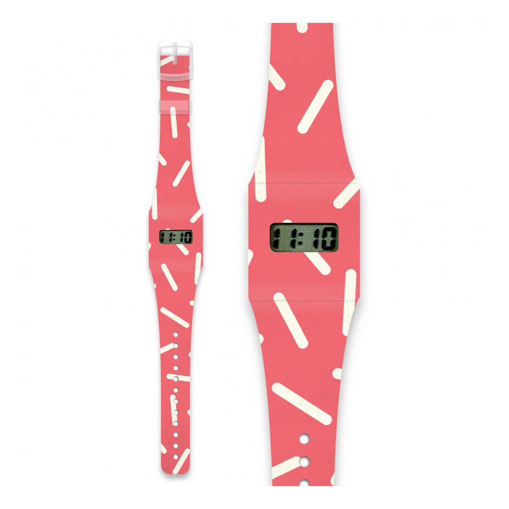 I like paper Montre en papier Rayure Pink-product