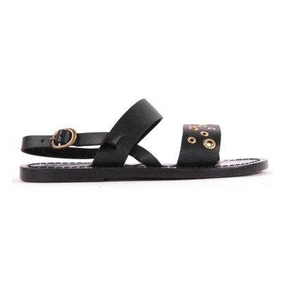 Hartford Eyelets Leather Sandals -listing