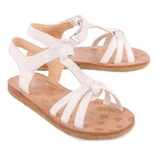 Easy Peasy Lulu Crossed Leather Sandals-product