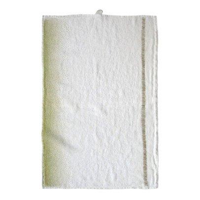 Maison Georgette Zig Zag Linen Tea Towel-listing