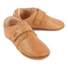 Easy Peasy Hat Velcro Leather Slippers-listing