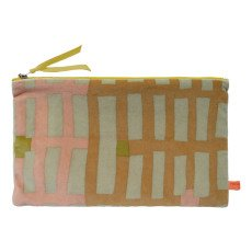 Maison Georgette Trousse velours Grand rectangle or-listing