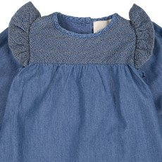 Louis Louise Blouse Chambray Broderies Louane-listing
