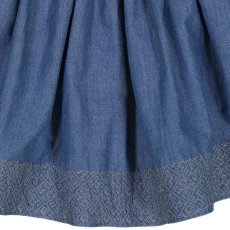 Louis Louise Jupe Chambray Broderies Claudette-listing