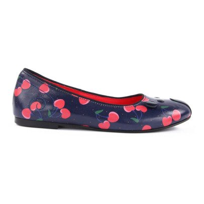 Little Marc Jacobs Leather Cherry Mouse Ballerina Shoes-listing
