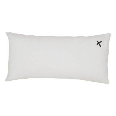 "Bed and philosophy Cojín en lino lavado serigrafiado ""Lovers"" - 55x110 cm-listing"