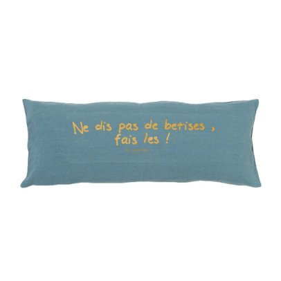 Bed and philosophy Embellished Washed Linen Cushion - 30x70cm-listing