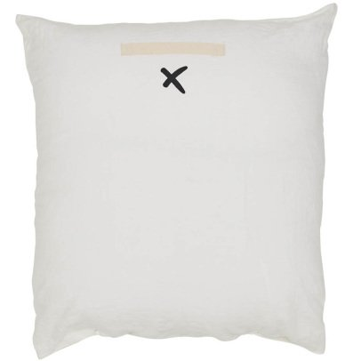 Bed and philosophy Embellished Washed Linen Cushion - 80x80cm-listing