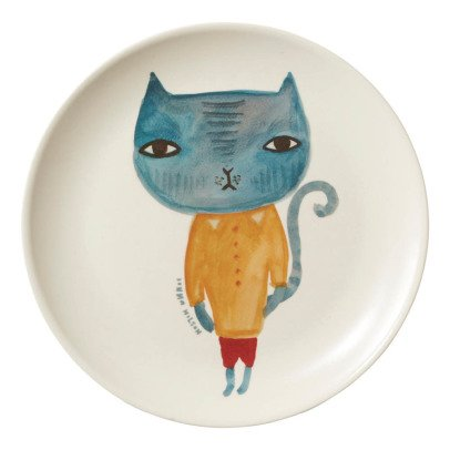 Donna Wilson Cat Bamboo Fibre Plate-listing
