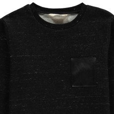 Little Eleven Paris Portishead Marl Sweatshirt with Pocket-listing