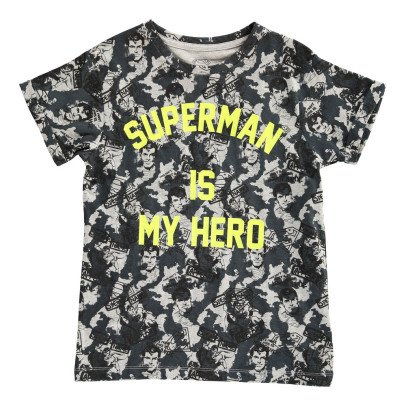 Little Eleven Paris Famguard Superman Is My Hero Oversize T-Shirt-listing