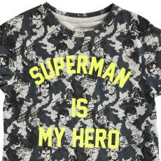 Little Eleven Paris T-Shirt Oversize Superman Is My Hero Famguard-listing
