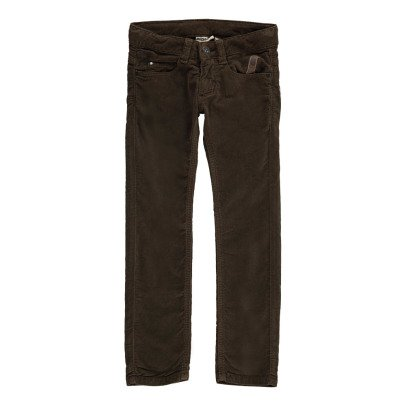 Imps & Elfs Velour Slim Trousers with Five Pockets-listing