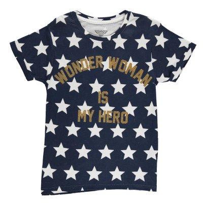 Little Eleven Paris T-Shirt Oversize Etoiles Wonder Woman Is My Hero Famwond-listing
