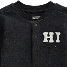 Imps & Elfs Organic Cotton Baseball Sweatshirt with Poppers-listing