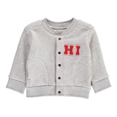 Imps & Elfs Organic Cotton Baseball Sweatshirt with Poppers-product