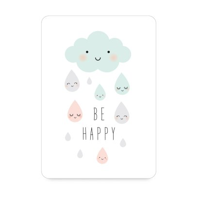 Zü Tarjeta Simple Lluvia be happy-listing
