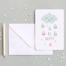 Zü Carte simple Pluie be happy-listing