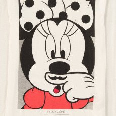Little Eleven Paris T-Shirt Minnie Moustache Minash-listing