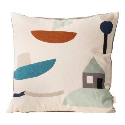 Ferm Living Coussin Seaside en coton organique -listing