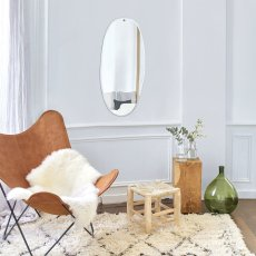 M Nuance Bevelled Mirror - Rough Oval Shape 45x95cm-listing