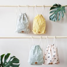 Ferm Living Green Polka Dot Backpack-listing