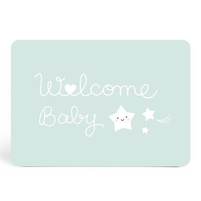 Zü Carte simple Welcome baby-listing