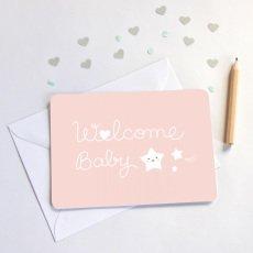 Zü Tarjeta Simple Welcome baby-listing