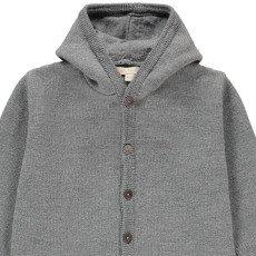 Poppy Rose Antoine Merino Wool Hooded Jumpsuit Heather grey-listing