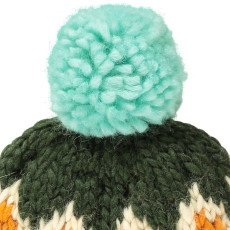 April Showers Wool Beanie - Fall  Dark green-listing
