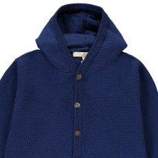 Poppy Rose Antoine Merino Wool Hooded Jumpsuit Navy blue-listing