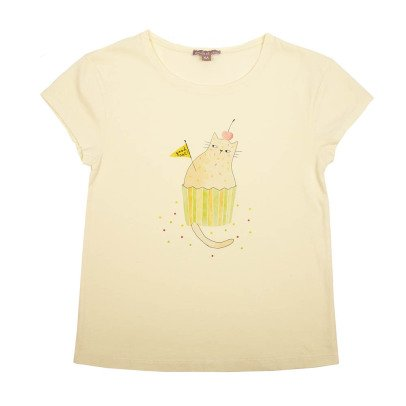 Emile et Ida Cat Cupcake T-Shirt-listing